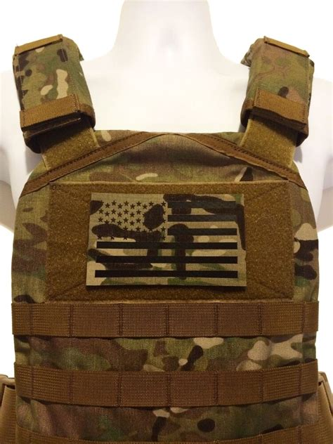 """LARGE 5x3"""" Infrared reflective Multicam IR US Flag Patch"""
