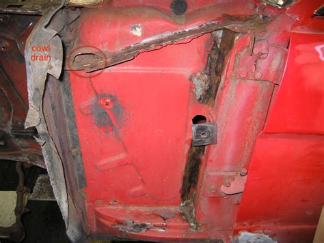 1968 Mustang cowl vent drain lines/holes? - Ford Mustang Forum
