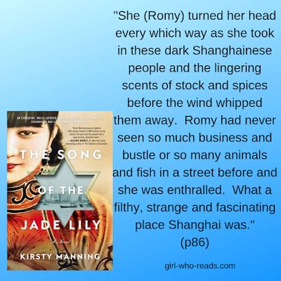 The Song of the Jade Lily by Kirsty Manning ~ a Review