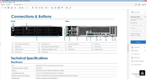 Synology Rackstation RS3617XS+, RS3617XS+ - EET Europarts NO