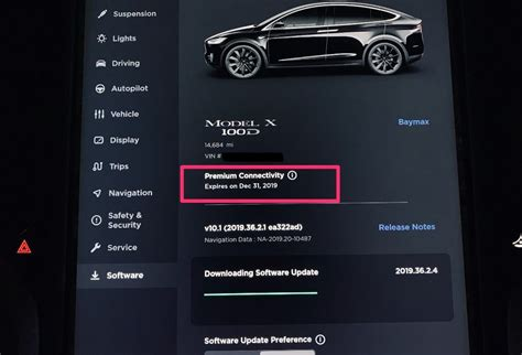 Tesla owners can now view their 'Premium Connectivity