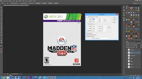 Madden NFL 25 Cover Template - PSD - YouTube