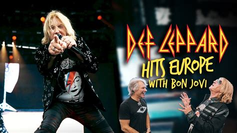 Meeting up with Bon Jovi - Def Leppard Hits Europe - YouTube