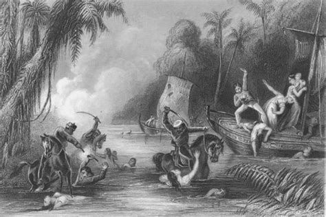 Massacre in the boats off Cawnpore