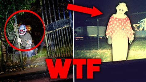 TOP 5 SCARIEST CLOWN SIGHTINGS OF ALL TIME - YouTube