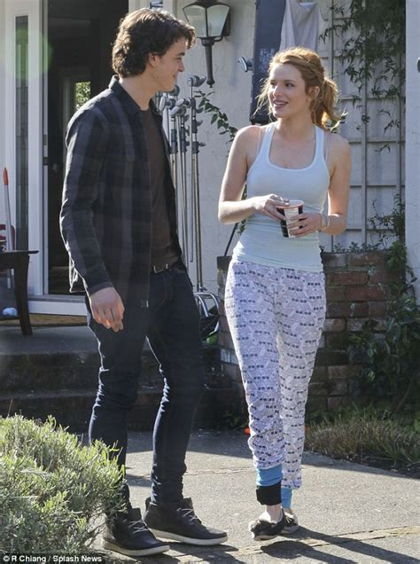Bella Thorne enjoys a stroll with co-star Israel Broussard