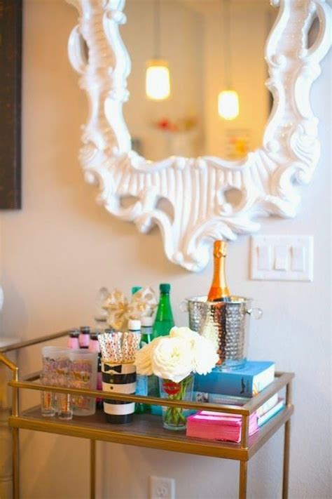 How to Decorate a Bar Cart | Chronicles of Frivolity