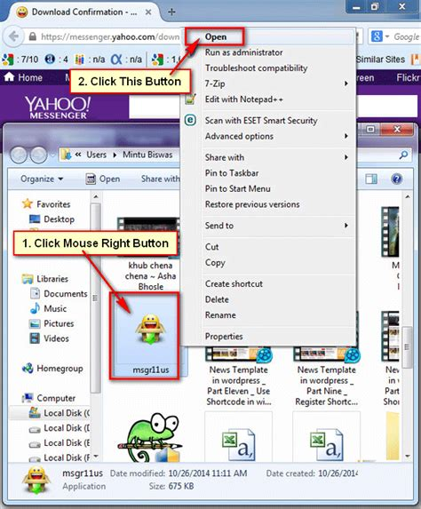 How to Download and Install Yahoo Messenger on Windows 7