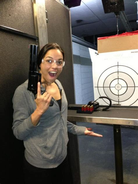 Michelle Rodriguez Loves Guns, Has A Grand Time In Las