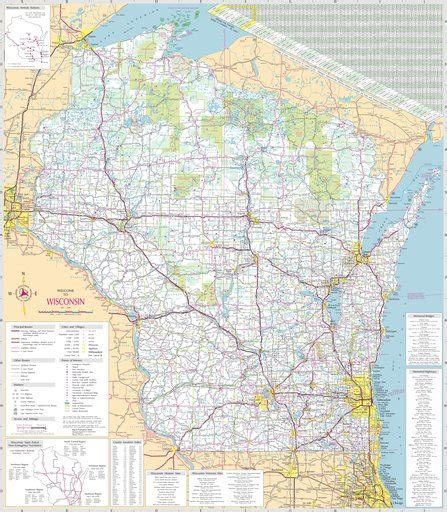 Wisconsin Highway Map - Maplets