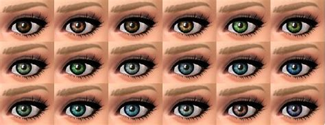 Mod The Sims - Two tone eyes (Default replacement)