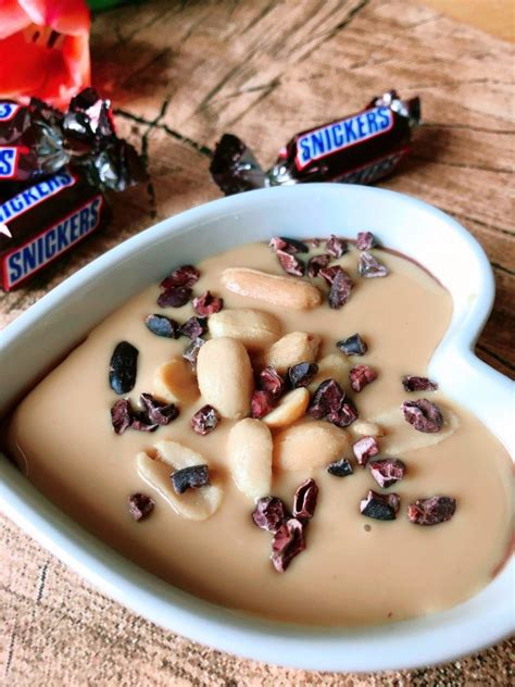 Snickers Pudding - zuckerfrei - lowcarb - high protein
