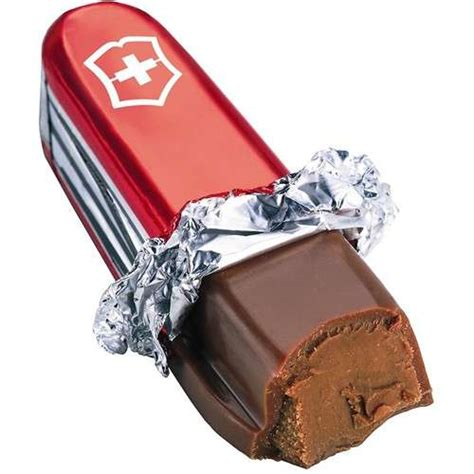 Edible Knives: Swiss Army Chocolate