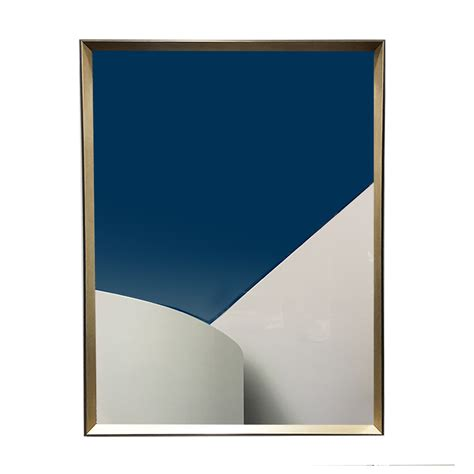 BLUE SKY WHITE WALL ACRYLIC IN BLACK/CHAMPAGNE FRAME